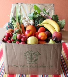 My Standard Organic Produce Box from Lemon Lime Delivery. The produce was so pretty and fresh!     Review of Lemon Lime Delivery:   For...