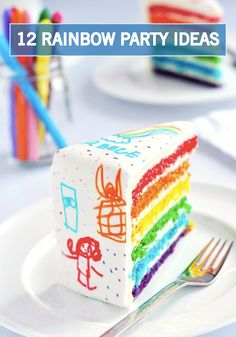 Add a magical and whimsical touch to your little one's birthday party with these 12 rainbow-inspired recipes and decor ideas.