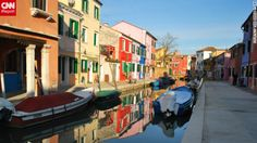 """Tina Marie O. Lim shared this photo showcasing the rainbow of colorful homes. """"The most memorable place for me during our visit to Venice was not Venice itself, but Burano Island, which is known for its brightly painted homes and intricate lacework."""""""