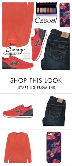 """""""Cozy Cashmere"""" by razone ❤ liked on Polyvore featuring New Balance Classics, Abercrombie & Fitch, 360 Sweater, Casetify and By Terry"""
