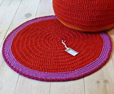 Crochet chão Rodada Tapete - pequena
