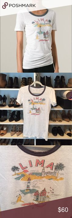 Isabel Marant Lima Tee 100% linen.  In great condition...no signs of wear. Isabel Marant Tops