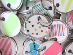 set of three washi tape gift tags by thetinyhummingbird on Etsy