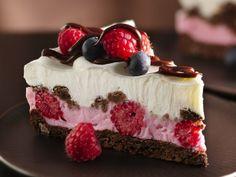 Chocolate and Berries Yogurt Dessert. WOW! This looks so good! :D