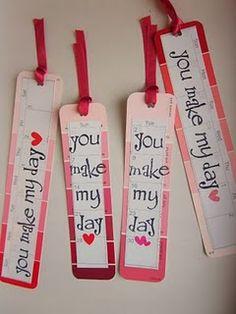 Paint Swatch Bookmark Valentine