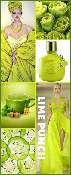 '' Lime Punch-2018 Pantone Color '' by Reyhan S.D.