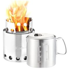 Solo Stove Pot 900 Combo Ultralight Wood Burning Backpacking Cook System Lightweight Kitchen Kit for Backpacking Camping Survival Burns Twigs No Batteries or Liquid Fuel Gas Canister Required * Click image for more details. Camping Cot, Camping Stove, Camping Gear, Camping Cooking, Camping Guide, Campsite, Survival Backpack, Camping Survival, Urban Survival