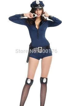 Free Shipping 2016 !!!! New Style Sexy Adult Halloween Costume Police Officer Uniform Wonderful Women Party Costume