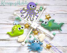 Mobile - Baby mobile, nursery mobile, sea creatures mobile - ein Designerstück von KarapuzBoutique bei DaWanda