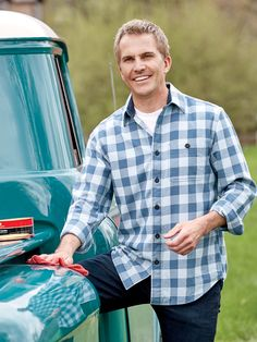 Never Too Heavy, Our Softly Brushed Buffalo Check Shirt Is the Perfect Weight for Year-Round Comfort Casual Outfits, Men Casual, Latest Mens Fashion, Buffalo Check, Check Shirt, Men's Apparel, Mens Tops, July 4th, Shirts