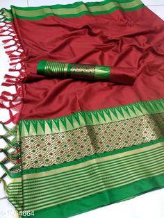 Sarees Drishya Cotton Silk Jari Saree   *Fabric* Saree -  Cotton Silk, Blouse - Cotton Silk  *Size* Saree Length - 5.5 Mtr, Blouse Length - 0.8 Mtr  *Work * Jari  Work  *Sizes Available* Free Size *   Catalog Rating: ★4 (401)  Catalog Name: Hrishita Drishya Cotton Silk Jari Saree CatalogID_130067 C74-SC1004 Code: 136-1064664-