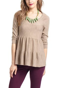 Tiered Swing Sweater #anthropologie