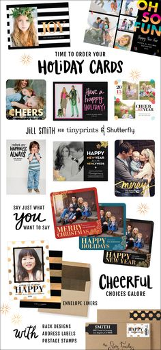 Take a look at this holiday card collection and see how many ways you can personalize a design for the holiday season.