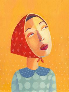 woman portrait  original painting on canvas by behappynow on Etsy,
