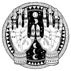 witchy palmistry wicca wiccan moon crescent moon symbols halloween fall occult cosmic galaxy celestial universe cosmicbabe gypsy boho astrology spells witchy jewellery lostwaxcasting adorn mystical raw crystals stones hands palms crystal ball tribal