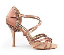 Salsa Shoes - Stunning Detail! #Glitter #Ballroom http://www.dancingfeeling.com/