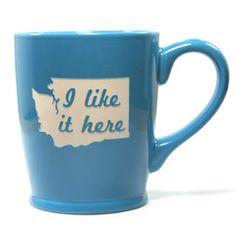 Washington state mugs in sky blue