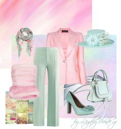 """Pastels"" by legallyblonde-gr ❤ liked on Polyvore"