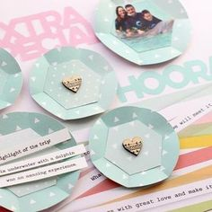 @nancydamiano on the blog today with a layout and a challenge. Love this idea to create big sequins using paper and to add some dimension. Link to blog in profile. #pinkfreshstudio #pflifenoted #pfhappythings #pinkfreshchallenge #scrapbooking