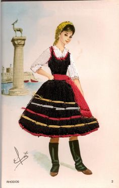 traditional costume of rhodes, greece | Found on myspace.com