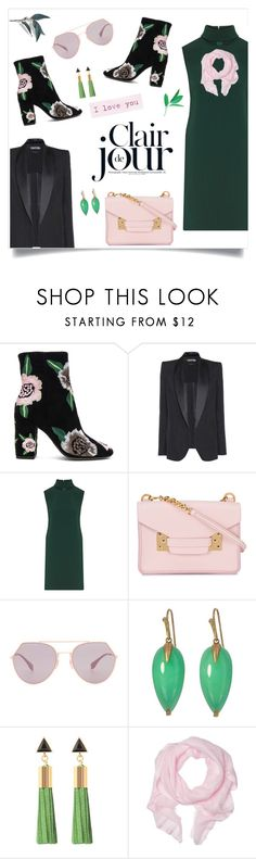 """Fall In Fall: Embroidered Bootie"" by alinepinkskirt on Polyvore featuring Rebecca Minkoff, Tom Ford, Theory, Sophie Hulme, Fendi, Annette Ferdinandsen and Love Quotes Scarves"