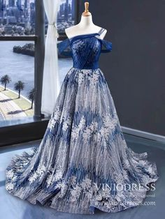 Off the Shoulder Glittery Silver & Blue Long Prom Dresses 2020 – Viniodress Prom Dresses With Pockets, Straps Prom Dresses, Beaded Prom Dress, Pink Prom Dresses, Ball Gowns Prom, Homecoming Dresses, Bridesmaid Dresses, Formal Dresses For Weddings, Formal Dresses For Women