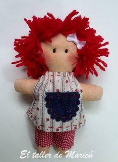 El taller de Maricú: Tutorial Minicú, the little doll.