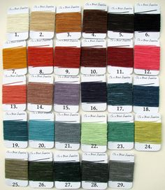 25 yards total 5 yards each of waxed Irish linen thread for bookbinding $8.75