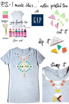 diy shirt fashion | DIY: Aztec Shirt ♥STYLIGHT's Fashion Blog