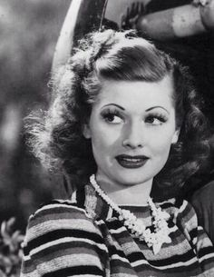 """Lucille Ball in """"Five Came Back"""" (1939)."""