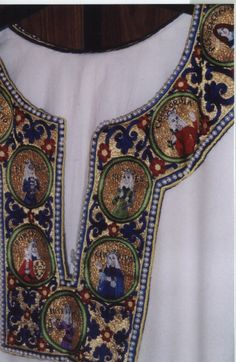 Embroidery by Leticia de Scocia (West Kingdom). Oh, my!