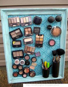 O que fazer com... maquiagem e quadro magnético!