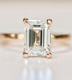 solitaire engagement ring,Emerald Cut Diamond,Emerald Cut Diamond engagement ring