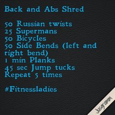 Workout: quick do-able, and over all good ab workout!