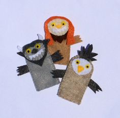 Now... Let the wild rumpus start!! Bring a favorite childrens story to life with these, Where the Wild Things Are inspired finger puppets! Fun for story time at home or on the go. Great for circle time and encouraging early literacy skills. Set of 6: Max, Boat, 4 Wild Things. Each