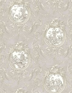 Cameo Toile wallpaper by Shand Kydd