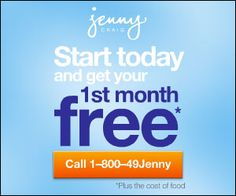 Consultation and First Month with Jenny Craig for FREE!