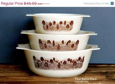 SALE  10 Days Only  JAJ Pyrex 'Rustic' casserole by ThatRetroPiece, $36.00