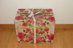 Storage box. Made of decoupage glue.