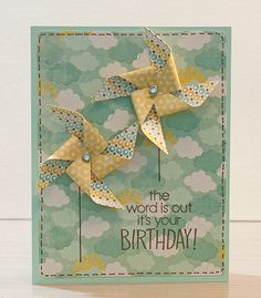 Simple card but oh so pleasing...lovely use of patterned papers...