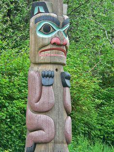 Tlingit totem poles at Saxman Village near Ketchikan Alaska (13) | Flickr - Photo Sharing!