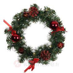Couronne en sapin vert LED Decoragen, référence 1523349- Décoration, DIY et lumière de Noël chezLuminaire.fr!