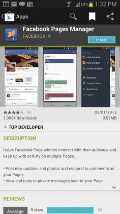 Facebook Pages app for android.