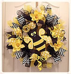 bumble bee wreath accents - Google Search