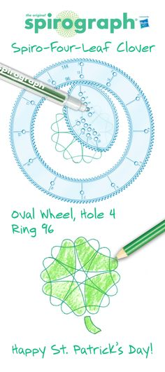 Here's how to make a Spiro-four-leaf clover for St. Patrick's Day! #spirograph