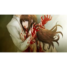 blood death huke makise kurisu spoilers steins;gate ❤ liked on Polyvore featuring anime and other