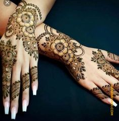 Mehndi henna designs are always searchable by Pakistani women and girls. Women, girls and also kids apply henna on their hands, feet and also on neck to look more gorgeous and traditional. Modern Mehndi Designs, Mehndi Designs For Girls, Mehndi Designs For Fingers, Dulhan Mehndi Designs, Latest Mehndi Designs, Simple Mehndi Designs, Mehandi Designs, Tatoo Henna, Henna Tattoo Designs