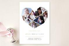 Fantastic birth announcement - love the collage heart.