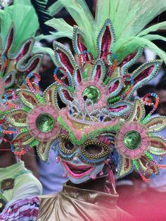 Masskara Festival 2010, Bacolod, Philippines Masskara Festival, Carnival Festival, Filipino, Phillipines Travel, President Of The Philippines, Samba Costume, Philippines Culture, Visayas, Bacolod