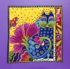 RAREHandmade Laurel Burch CAT by mjhobbiesngifts on Etsy